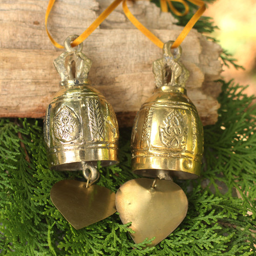 Brass Ornament Crafted by Hand (6 Inch) 'Buddhist Bell'