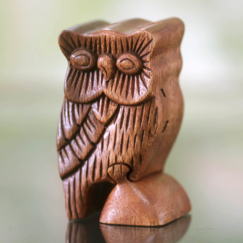 Owl Theme Wood Puzzle Box 'The Owl's Secret'