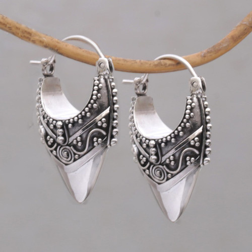 Ornate Balinese Hoop Earrings 'Bali Origin'
