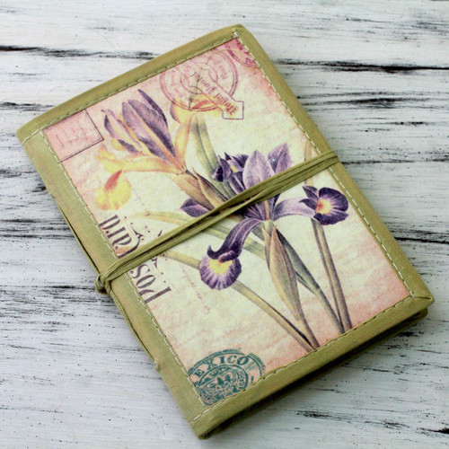 Handmade Paper Journal with 48 Pages 'Iris Voyage'