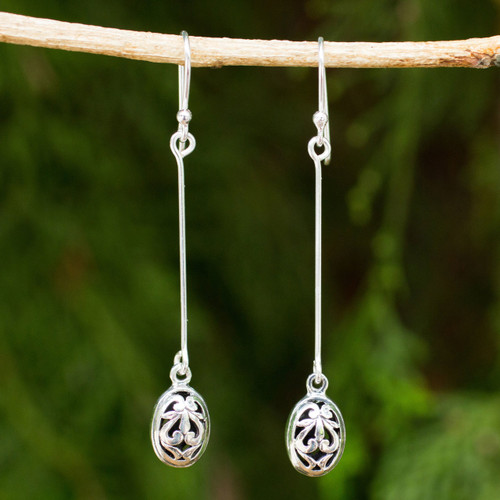 Fair Trade Silver 925 Earrings Hand Made in Thailand 'Falling For You'
