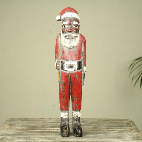 Unique Santa Claus African Christmas Sculpture 'Father Christmas'