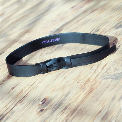 Black Leather Belt for Women in Modern Design 'Black Qallu'