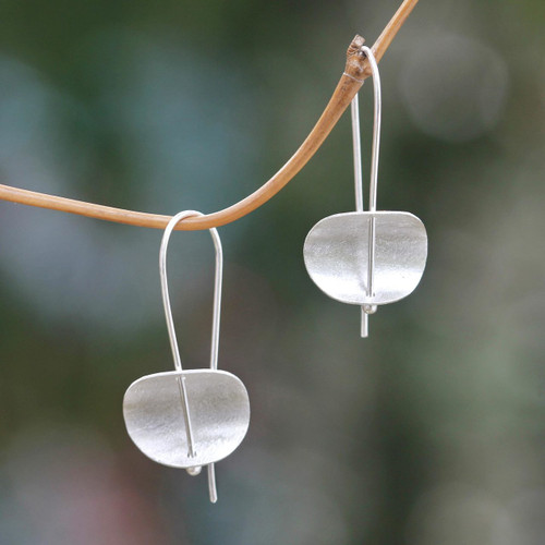 Modern Sterling Silver Earrings Artisan Crafted Jewelry 'Urban Minimalism'