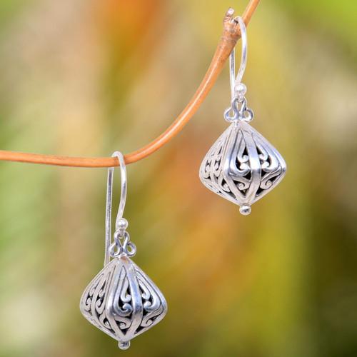 Women's 925 Sterling Silver Earrings from Indonesia 'Silver Fruit'