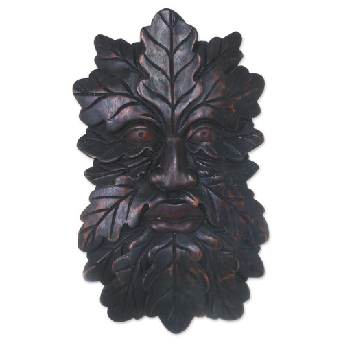 Camouflaged Tree Man Wall Mask from Indonesian Jaka Legend 'Jaka Tarub'