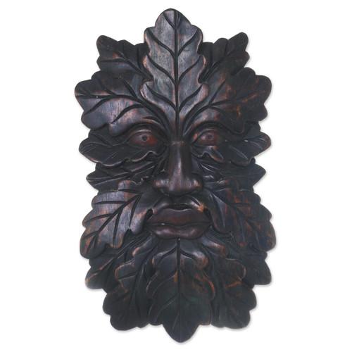 Camouflaged Tree Man Wall Mask from Indonesian Jaka Legend 'Jaka Tarub'
