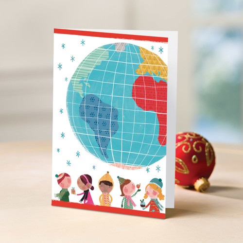 Children of the World in a Set of 12 UNICEF Greeting Cards 'Watercolor Kids'