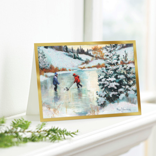 Set of 12 UNICEF Greeting Cards 'Hockey Players'