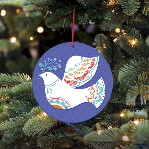 UNICEF Holiday Ornament-Cards Boxed Set of 10 'Peace in Every Heart'