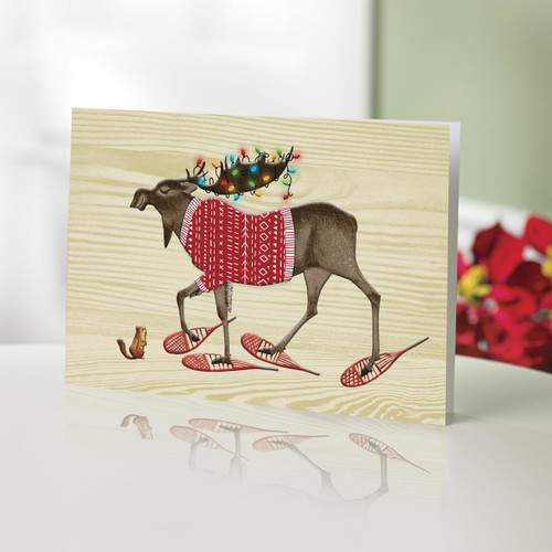 UNICEF Holiday Cards Boxed Set of 12 'The Moose Marches On...'
