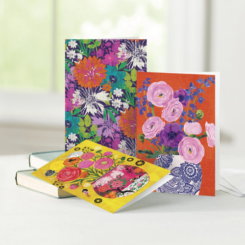 UNICEF Everyday Floral Cards Boxed Assortment of 12  'Bright and Beautiful Blossoms'