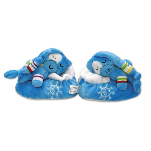 Blue Plush UNICEF Shoes with Gift Box  'Plush Pal'