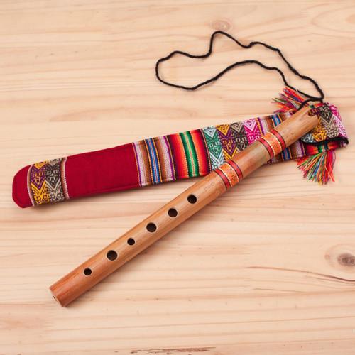 Wood Quena Flute Wind Instrument 'Peace Flute'