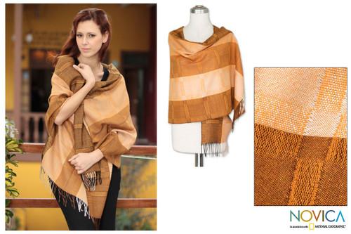 100% alpaca shawl 'Sechura Dunes'