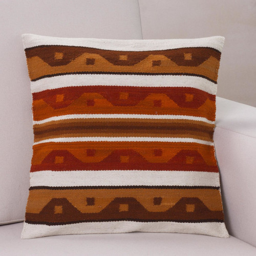 Wool cushion cover 'Golden Surf'