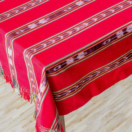 Cotton tablecloth 'Crimson Joy'