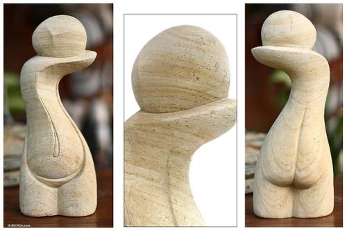 Fair Trade Stone Sculpture 'Woman's Nature'