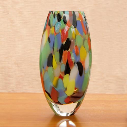 Unique Murano Inspired Glass Vase 'Carnival Confetti'
