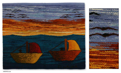 Wool tapestry 'Peruvian Coast'