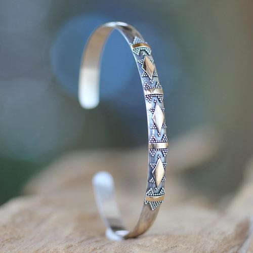 Bracelet with 18k Gold Accents 'Majestic Diamond'