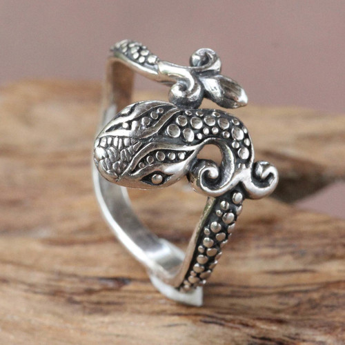 Fair Trade Sterling Silver Ring 'Baby Cobra'