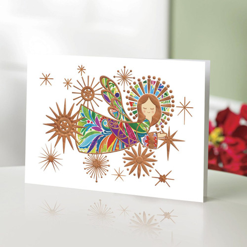 UNICEF Holiday Cards Boxed Set of 12 'The Angel of Colors'