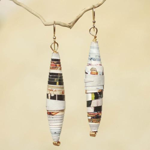 Handmade Eco-Earrings 'Colored Pencil'