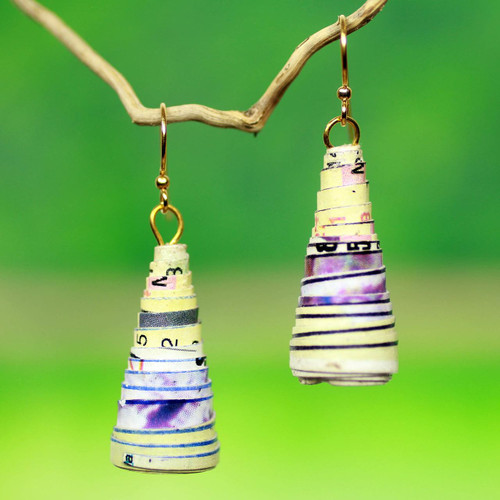 Afro Ecology Recycled Earrings 'Ring My Bell'