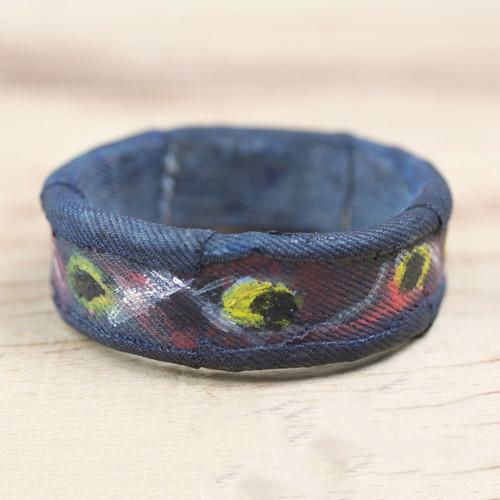 Cotton and Sese Wood Bangle Bracelet from Ghana 'Asor Bayereh'
