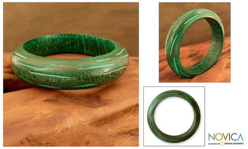 Wood Bangle Bracelet 'Empress'
