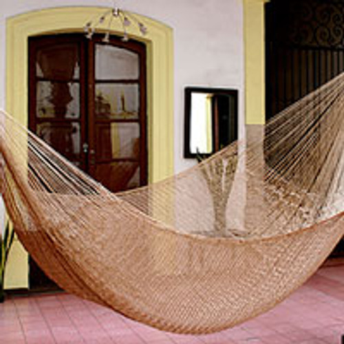 Handcrafted Solid Rope Hammock (Double) 'Glowing Bronze'