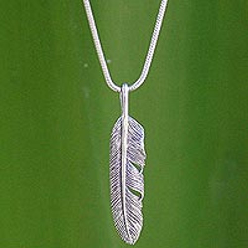 Unique Sterling Silver Pendant Necklace 'Flight'