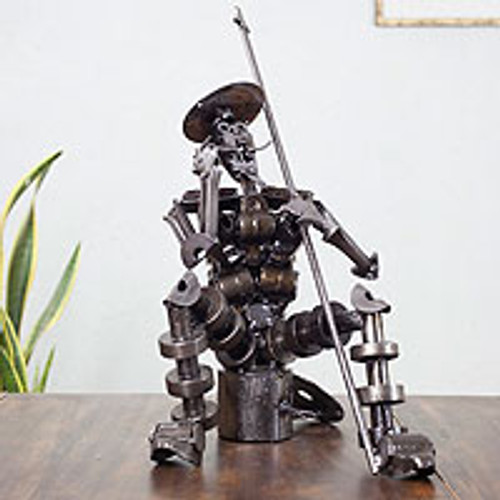 Auto parts sculpture 'Ingenious Don Quixote'