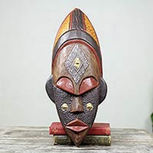 Hand Crafted Ivory Coast Mask 'Dan Beauty'