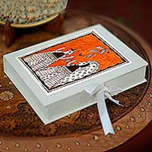 Madhubani greeting cards (Set of 8) 'Wedding Feast'