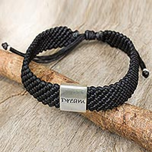 Sterling Silver Wristband Bracelet from Thailand 'Dream'
