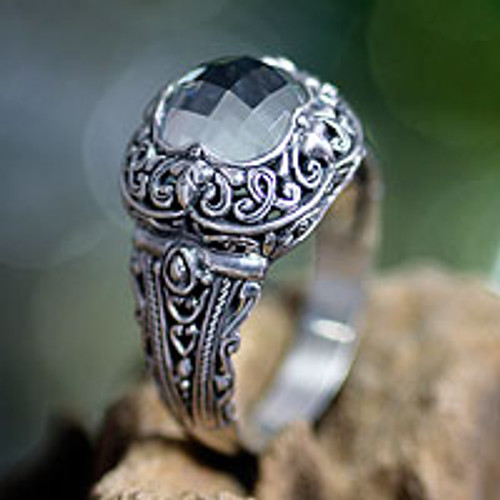 Sterling Silver and Prasiolite Cocktail Ring 'Nature's Divinity'