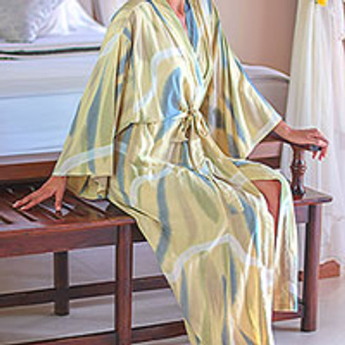 Women's Batik Patterned Robe 'Sweet Nuance'