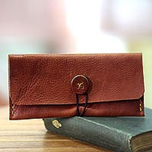 Brown Leather Wallet Crafted by Hand in Java 'Batavia Brown'