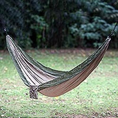 Portable Parachute Fabric Hammock Khaki Army Green (Single) 'Jungle Dreams'