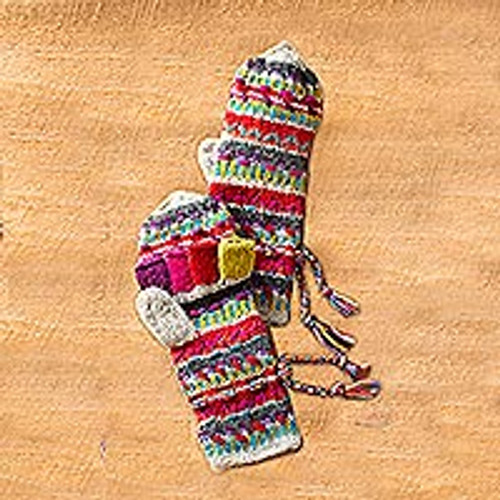 Kamala Convertible Mittens 'Kamala Stripes'