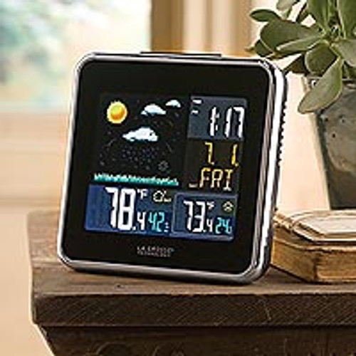 Wireless Color Forecast Station with Atomic Clock 'Rain or Shine'