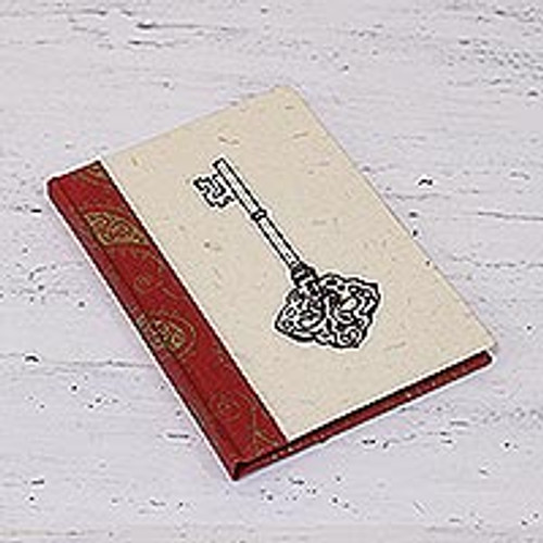 Handcrafted Key Design Paper Journal from India 'Key to My Heart'