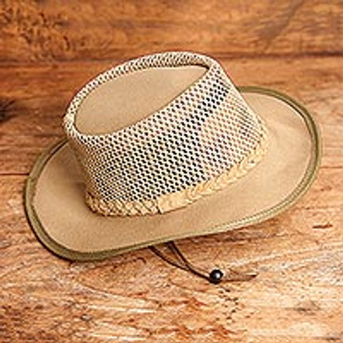 Men's Ventilated African Mesh Ranger Hat in Sand 'African Ranger'