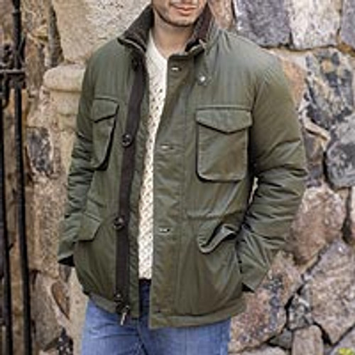 Men's M-65 Faux Shearling Collar Jacket in Olive 'Grand Mesa'