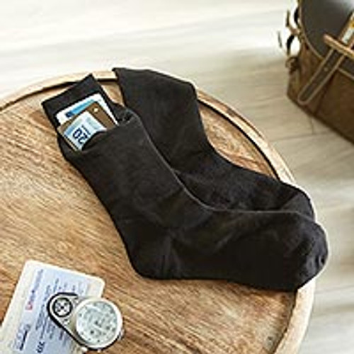 Set of Three Pairs of Zip-It Travel Socks 'Zip-It'