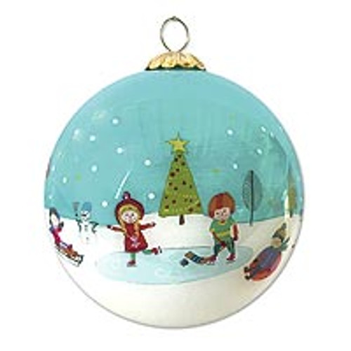 UNICEF 2020 Holiday Ornament 'Kids In The Snow'