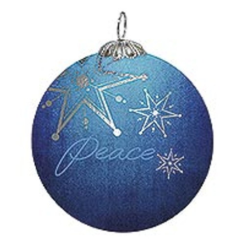 UNICEF Holiday Glass Ornament 'Peace Star'