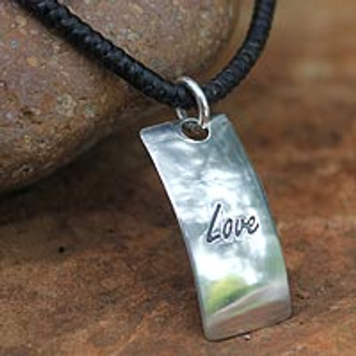 Sterling Silver Pendant Necklace 'Spirit of Love'